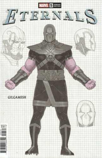 Eternals #5 1:10 Gerald Parel Design Variant Gilgamesh Marvel 2021 Kieron Gillen