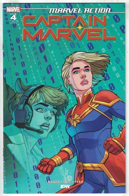 Marvel Action Captain Marvel #4 1:10 Nicole Goux Variant Marvel 2020 VF/NM