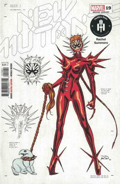 New Mutants #19 1:50 Dauterman Design Variant Rachel Summers Marvel 2019