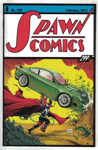 Spawn #228 Cover A McFarlane Action Comics Homage Image 1992 VF/NM