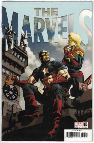 The Marvels #3 1:25 Johnson Variant Captain America Marvel 2020 Busiek VF/NM