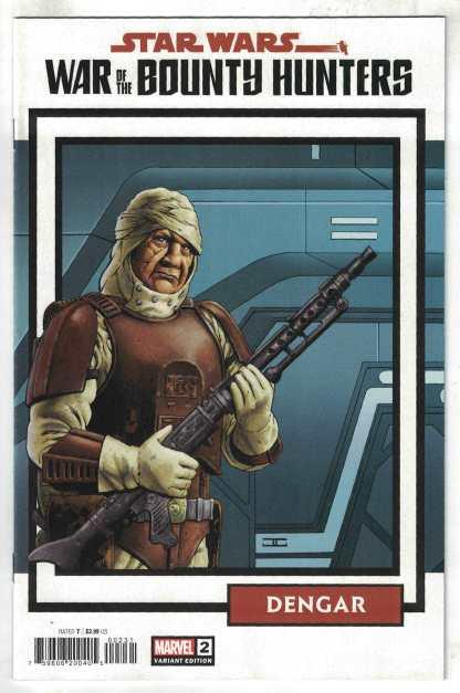 Star Wars War of the Bounty Hunters #2 1:25 Cassaday Card CVR Marvel 2021 VF/NM