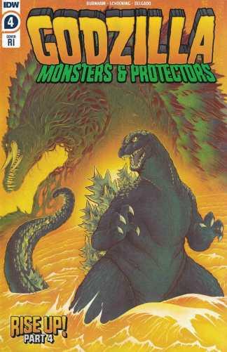 Godzilla Monsters & Protectors #4 1:10 Gonzalez Variant Biollante IDW 2021