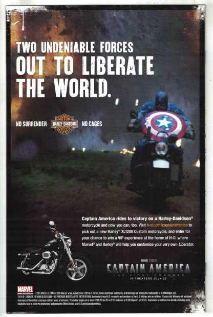 Captain America #1 1:25 Romita Sr Variant Marvel 2011 Brubaker VF/NM