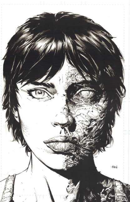 Walking Dead Deluxe #11 1:25 2nd Print Finch Sketch Variant Image 2020 Kirkman