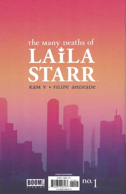 Many Deaths of Laila Starr #1 1:50 David Mack Virgin Foil Variant Boom 2021