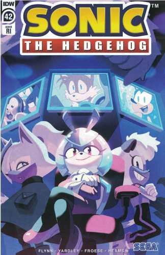Sonic the Hedgehog #42 1:10 Nathalie Fourdraine Variant IDW 2018 Ian Flynn