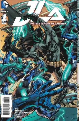 Justice League of America #1 1:100 Bryan Hitch Sextuple Gatefold Variant DC 2015