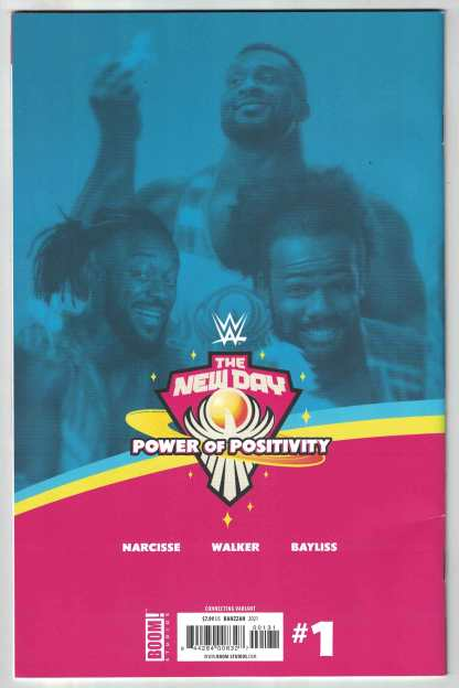 WWE New Day Power of Positivity #1 1:10 Rahzzah Variant Boom 2021 F/VF
