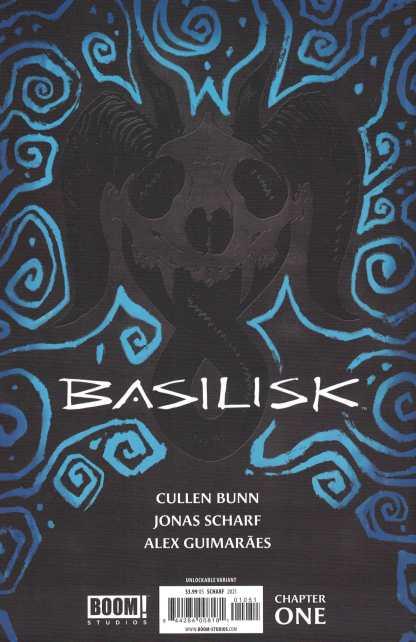 Basilisk #1 Jonas Scharf Virgin Unlockable Variant Boom! 2021 Cullen Bunn
