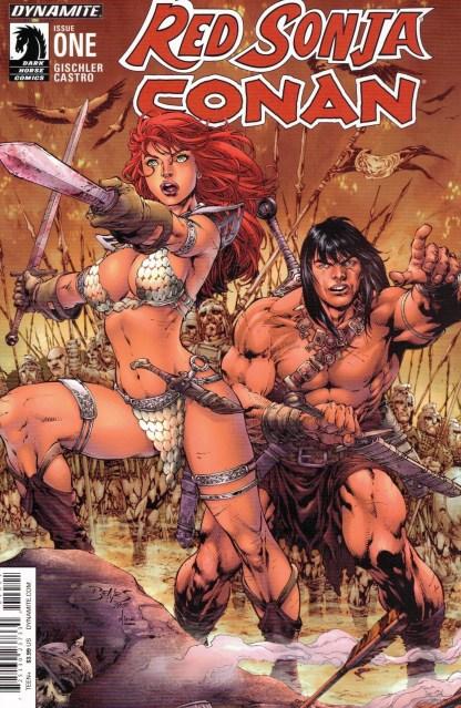 Red Sonja Conan #1 Ed Benes Color Variant Dynamite 2015