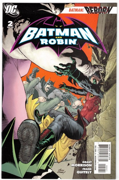 Batman and Robin #2 1:25 Andy Kubert Variant DC 2009 Morrison Quietly VF/NM