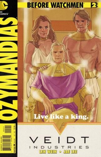 Before Watchmen Ozymandias #2 1:25 Phil Noto Variant DC Comics 2012