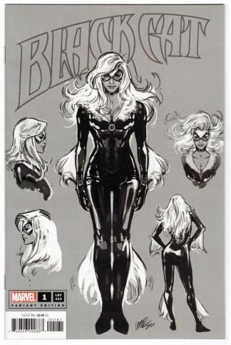 Black Cat #1 1:100 Pepe Larraz Design Sketch Variant Marvel 2020 MacKay VF/NM