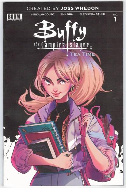 Buffy the Vampire Slayer Tea Time #1 1:10 Sweeny Boo Variant Boom! 2021 VF/NM