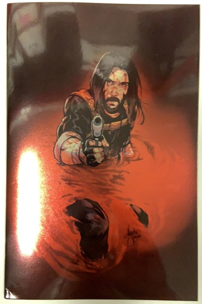 BRZRKR #4 1:200 Mirka Andolfo Foil Variant Boom 2021 Keanu Reeves VF/NM