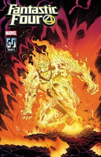 Fantastic Four #36 1:25 Nick Bradshaw Human Torch Variant Ships -9/22