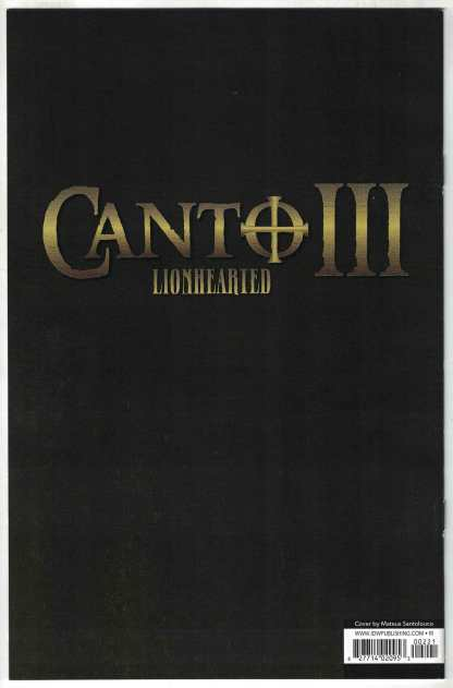 Canto III Lionhearted #2 1:10 Mateus Santolouco Variant IDW 2021 VF/NM