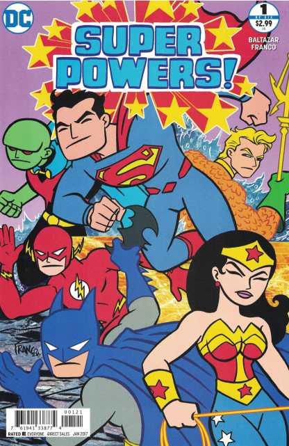 Super Powers #1 Franco Variant DC 2016 Justice League Art Baltazar