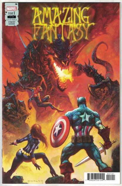 Amazing Fantasy #1 1:25 Horley Variant Spider-Man Marvel 2021 Kaare Andrews NM-