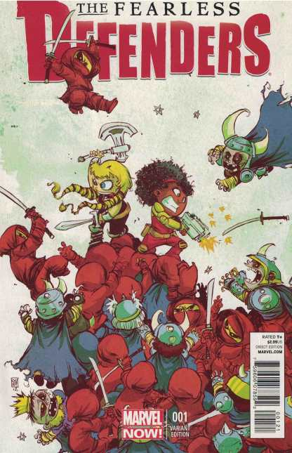 Fearless Defenders #1 Skottie Young Marvel Babies Variant Misty Knight 2013 NOW