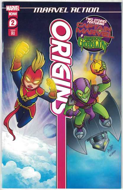 Marvel Action Origins 1:10 Garbowska Variant Captain Marvel Marvel 2020 F/VF