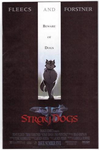 Stray Dogs #5 2nd Print 1:10 Fleecs Forstner Crow Variant Image 2021 VF/NM