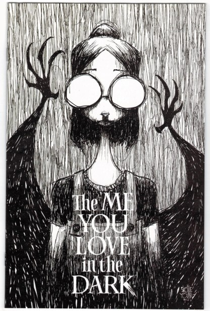 Me You Love in the Dark #1 1:25 Skottie Young B&W Variant Image 2021 VF/NM