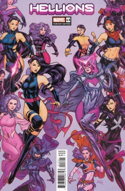 Hellions #13 Russell Dauterman Psylocke Variant Marvel 2019