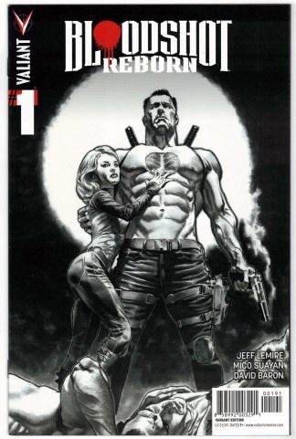 Bloodshot Reborn #1 1:100 Lewis Larosa B&W Sketch Variant Valiant 2015 VF/NM