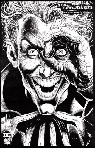 Batman Three Jokers #3 1:100 Jason Fabok B&W Sketch Variant DC 2020