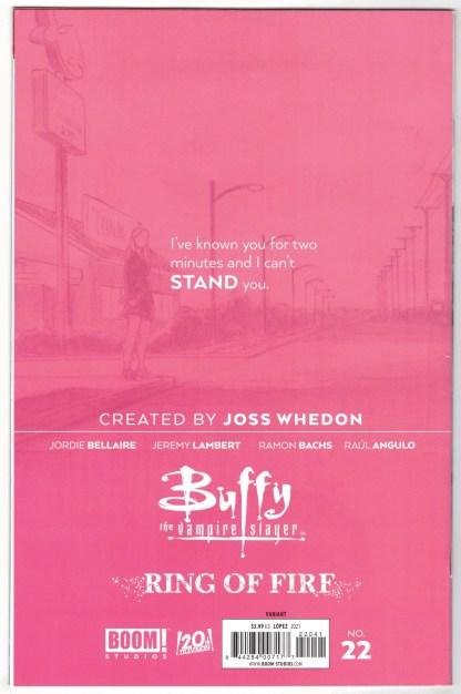 Buffy the Vampire Slayer #22 1:25 David Lopez Variant Boom 2019 VF/NM