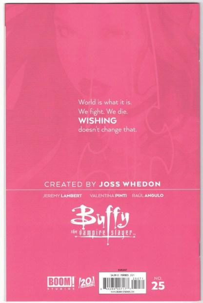 Buffy the Vampire Slayer #25 1:50 Scott Forbes Virgin Variant Boom VF/NM