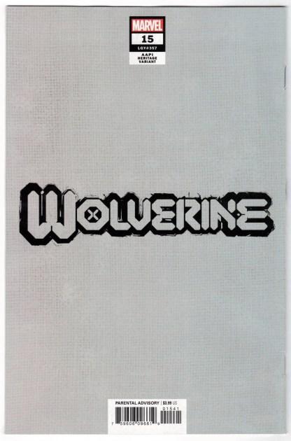 Wolverine #15 1:50 InHyuk Lee AAPI Heritage Virgin Variant 2020 VF+