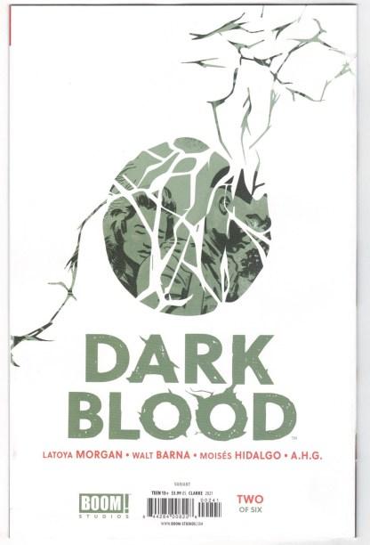 Dark Blood #2 1:25 Taurin Clarke Virgin Variant Boom 2021 VF/NM