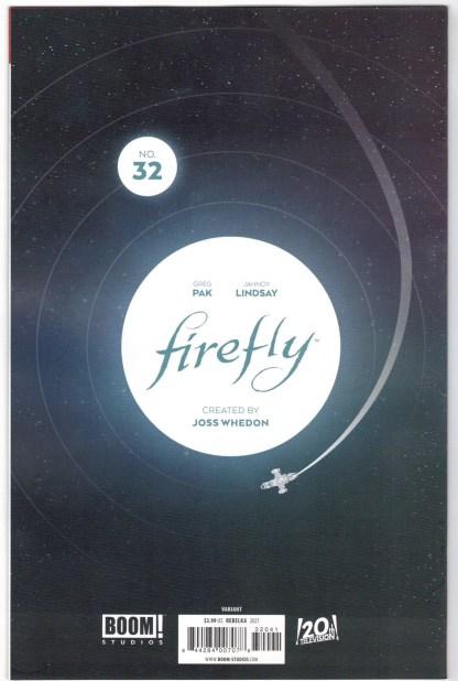 Firefly #32 1:25 Jakub Rebelka Virgin Variant Boom 2018 VF/NM