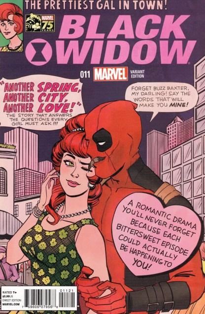 Black Widow #11 1:25 Annie Wu Deadpool Photobomb Variant Marvel 2014