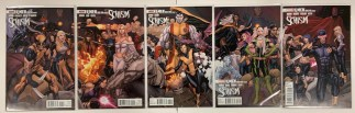 X-Men Schism #1-5 Complete Set Frank Cho Connecting Variants Marvel 2011 VF/NM