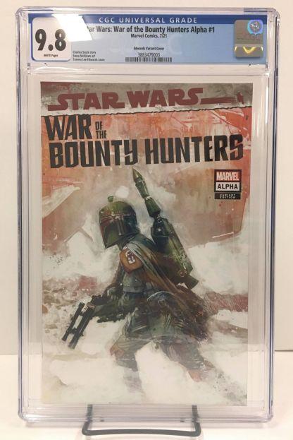 Star Wars War of the Bounty Hunters Alpha #1 Edwards Boba Fett Variant CGC 9.8