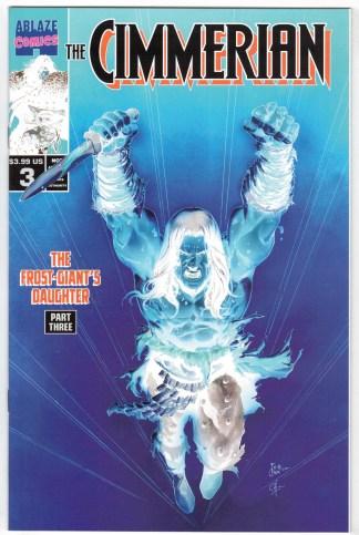 Cimmerian Frost-Giant's Daughter #3 1:30 Casas Negative Variant Ablaze VF/NM