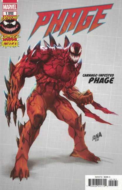 Extreme Carnage Phage #1 1:10 Nakayama Design Variant Marvel 2021