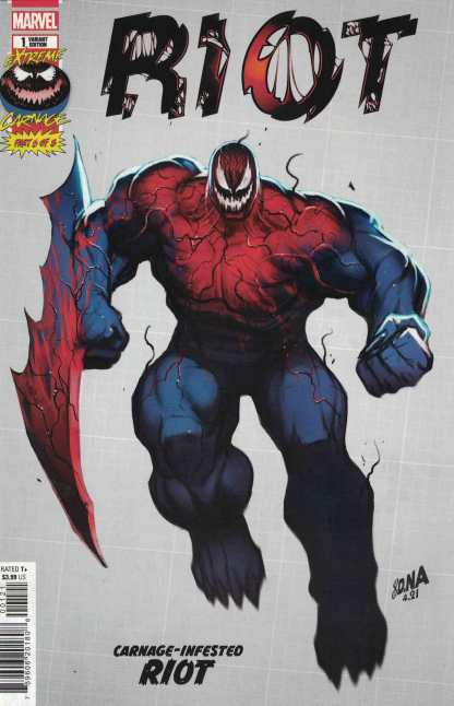 Extreme Carnage Riot #1 1:10 Nakayama Design Variant Marvel 2021