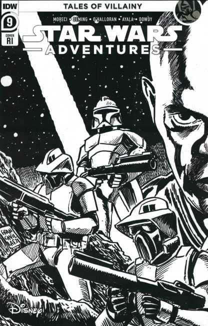 Star Wars Adventures #9 1:10 Francavilla B&W Sketch Variant IDW 2020