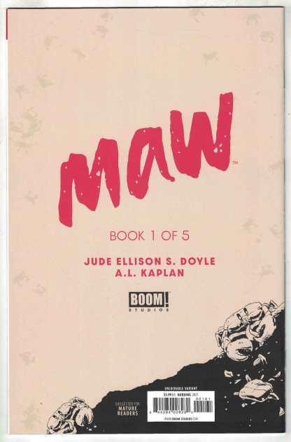 Maw #1 Harding Virgin B&W Unlockable Variant Jude Doyle Boom 2021 VF/NM