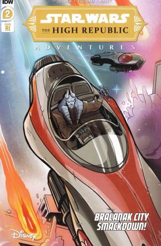 Star Wars High Republic Adventures #2 1:10 Yael Nathan Variant IDW 2021
