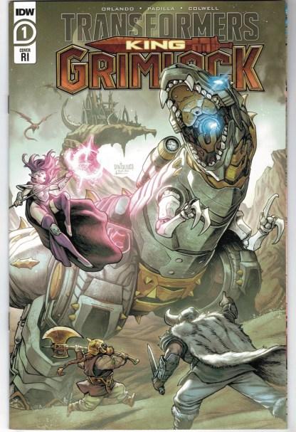 Transformers King Grimlock #1 1:10 Santolouco IDW 2021 VF/NM