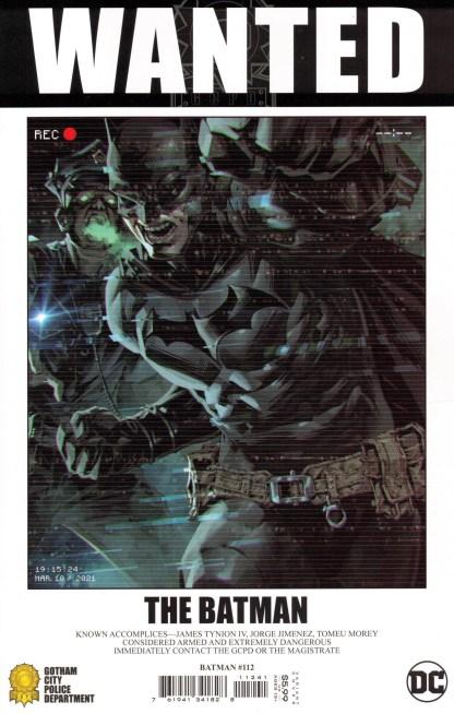 Batman #112 1:50 Kael Ngu Wanted Poster Variant DC 2016 Fear State