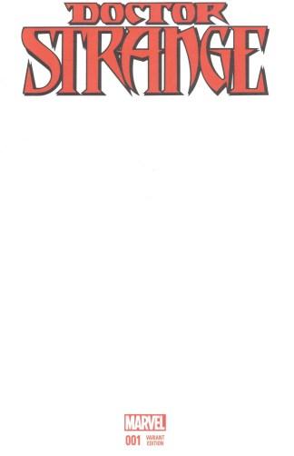 Doctor Strange #1 Blank Variant Marvel 2015 Aaron Bachalo