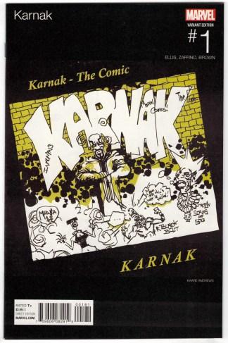 Karnak #1 Kaare Andrews Hip Hop Variant Marvel 2015 VF/NM