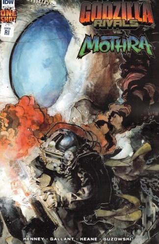 Godzilla Rivals vs Mothra #1 1:10 Jeffrey Veregge Variant IDW 2021